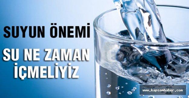 Su içmenin en faydalı zamanı