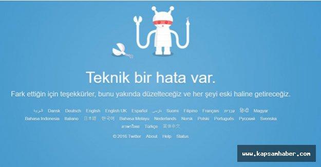 Twitter'a Neden Erişilemiyor... Çöktü mü?