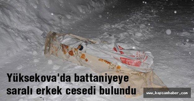 Yüksekova'da battaniyeye saralı erkek cesedi...