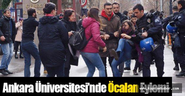 Ankara Üniversitesi'nde Öcalan Eylemi