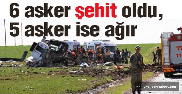 Askerleri taşıyan araca bombalı saldırı: 6 şehit