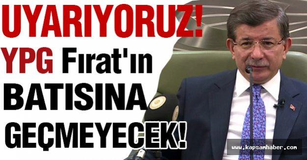 Başbakan Davutoğlu Bir kez daha Uyardı!