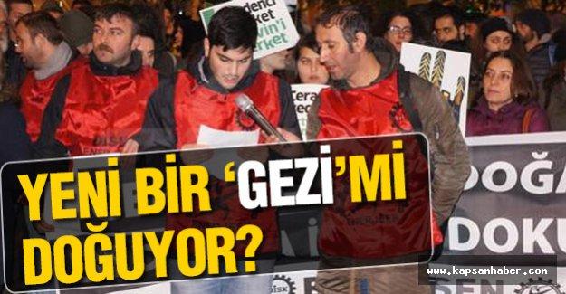 Beyoğlu'nda, Cerattepe''deki eylemlere destek