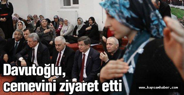 Davutoğlu, Erzincan'da Cemevi'ni ziyaret etti.