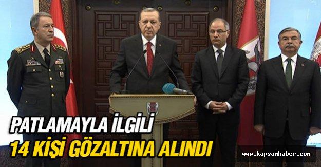 Erdoğan: 14 kişi gözaltına alındı