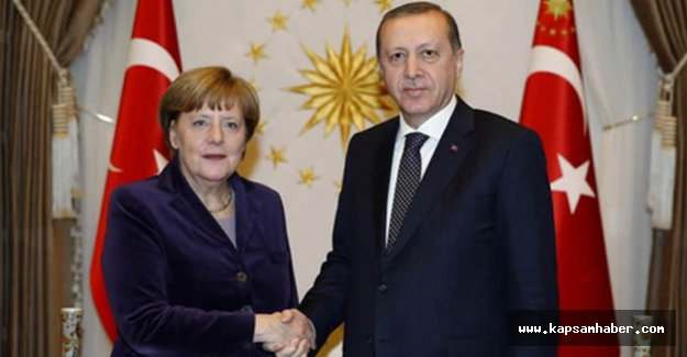 Erdoğan, Merkel'i kabul etti