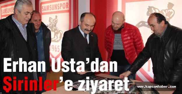 Erhan Usta'dan Şirinler'e ziyaret