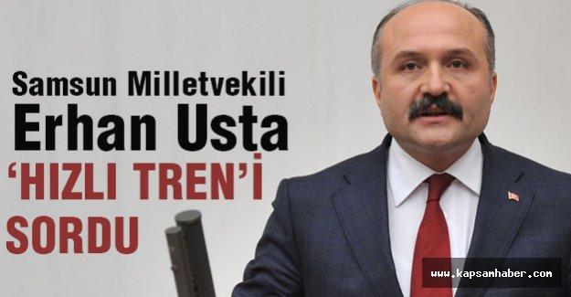 Erhan Usta, Samsun'a yapılacak olan hızlı treni sordu