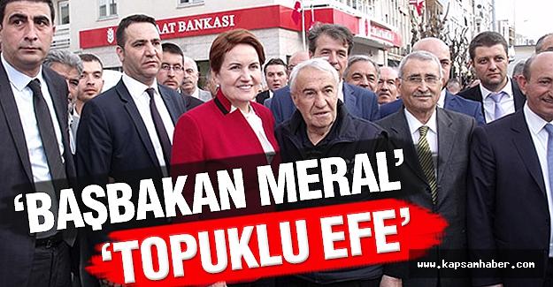 Meral Akşener'e 'Topuklu Efe' Karşılaması