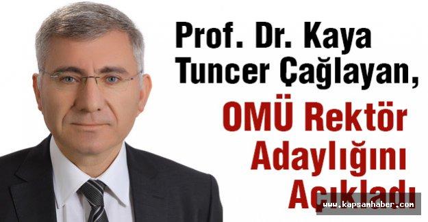 Prof. Dr. Çağlayan, OMÜ Rektör Adaylığını Açıkladı