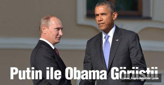 Putin ile Obama Görüştü