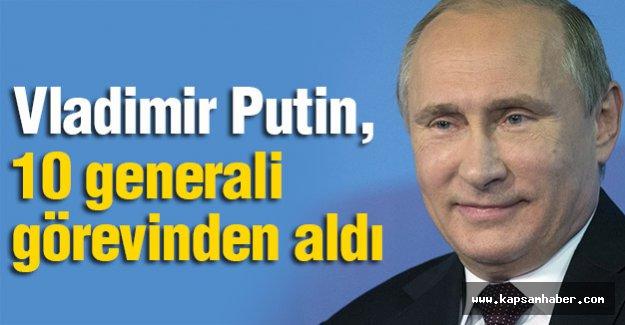 Putin, orduda görevli 10 generali görevden aldı