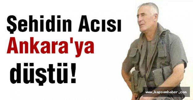 Şehidin Acısı Ankara'ya Düştü
