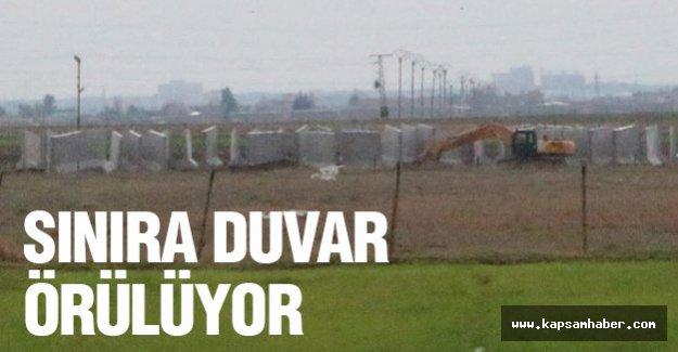 Suriye sınırına duvar döşeniyor