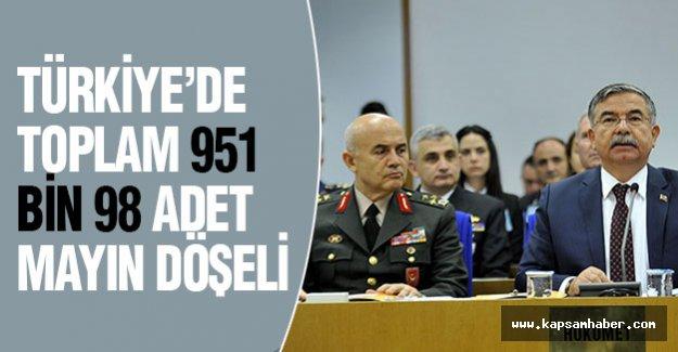 Türkiye'de Toplam 951 Bin 98 Adet Mayın Döşeli