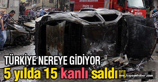 Türkiye Nereye Gidiyor?  5 yılda 15 kanlı saldırı...