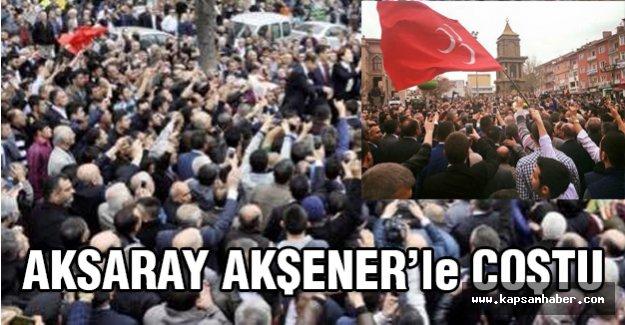 Meral Akşener'e Aksaray'da Müthiş Karşılama