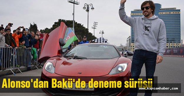 Alonso'dan Bakü'de deneme sürüşü