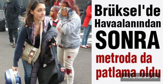 Brüksel'de  metroda da patlama oldu...