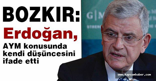 Erdoğan, AYM konusunda kendi düşüncesini ifade etti