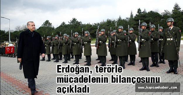 Erdoğan, terörle mücadelenin bilançosunu açıkladı