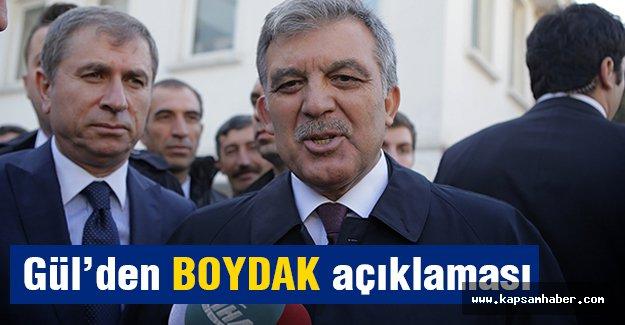 Gül'den Boydak'a operasyon açıklaması