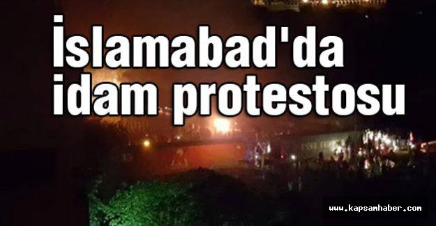 İslamabad'da idam protestosu