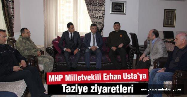MHP Milletvekili Erhan Usta'ya taziye