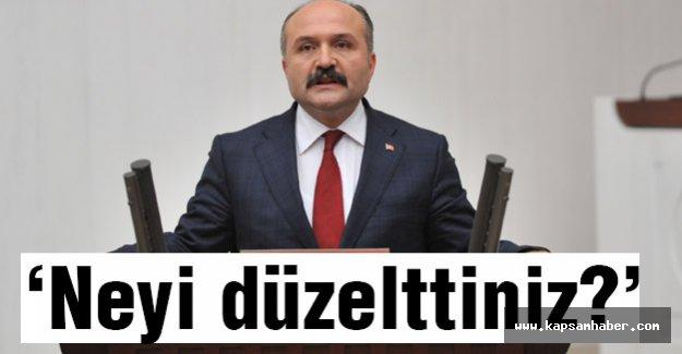 MHP Samsun Miletvekili Usta: bütçe harcamalarını arttırdınız da neyi düzelttiniz?