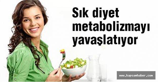 Sık diyet metabolizmayı yavaşlatıyor