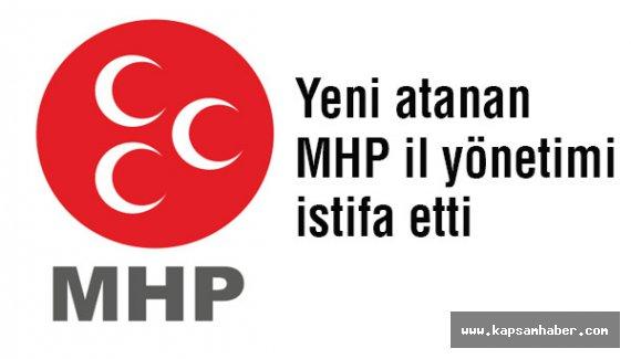 Yeni Atanan MHP İl Yönetimi İstifa Etti.