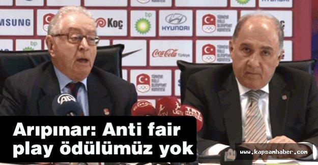 Arıpınar: Anti fair play ödülümüz yok