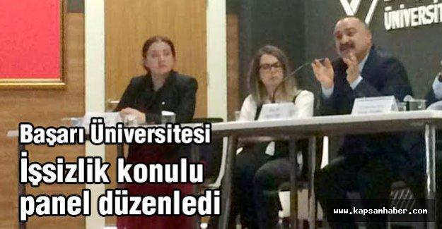 Başarı Üniversitesi İşsizlik konulu panel düzenledi...