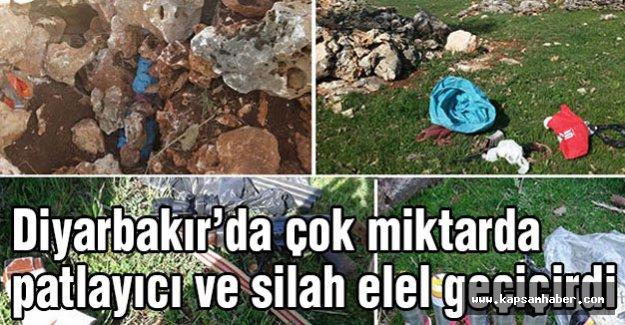 Diyarbakır'da silah ve patlayıcılar ele geçirildi