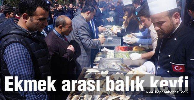 Erzurumlulardan ekmek arası balık keyfi