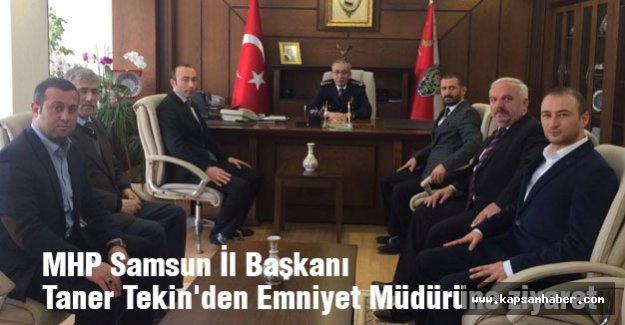 MHP Samsun İl Başkanı Taner Tekin'den Emniyet Müdürüne Ziyaret