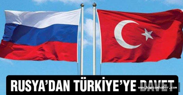 Rusya'dan Türkiye'ye davet geldi...