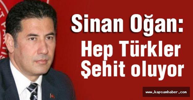 Sinan Oğan; Hep Türkler Şehit Oluyor
