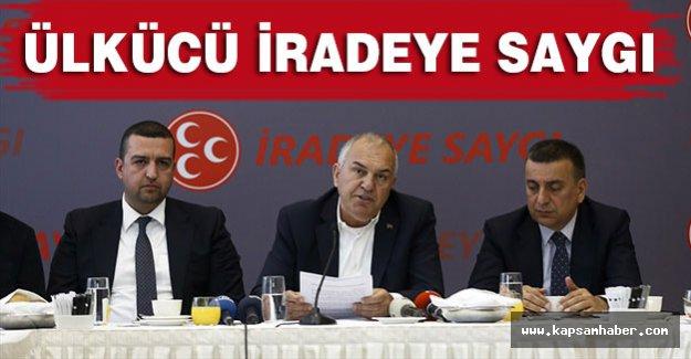 Ülkü Ocakları Eski başkanlarından' İradeye Saygı' Açıklaması