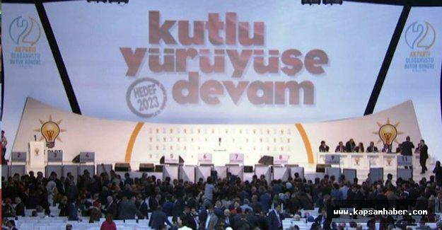 AK Parti 2. Olağanüstü Kogresi'nde oy kullanmaya başlandı