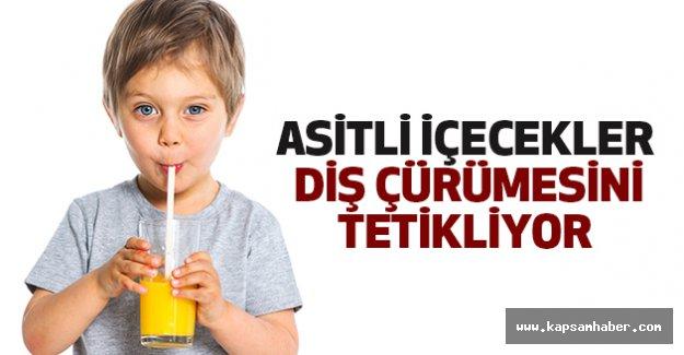 Asitli içecekler diş çürümesini tetikliyor