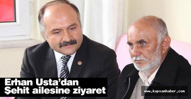Erhan Usta'dan  Merzifonlu Şehit Murat Demirci'nin Ailesini Ziyaret