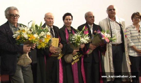 Usta sinemacılara 'Onursal Profesörlük' unvanı verildi