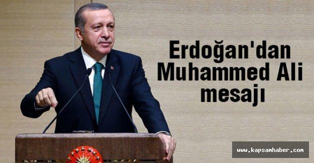 Erdoğan'dan Muhammed Ali mesajı