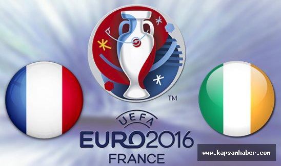 Fransa - İrlanda Cumhuriyeti maçında ilk 11'ler belli oldu