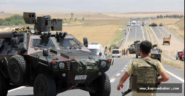 Silvan'da askeri araca saldırı