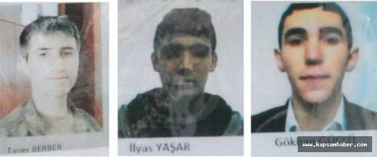 İşte Yakalanan 3 Teröristin Kimlikleri