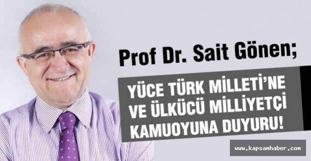 MHP Genel Başkan Adayı'ndan Önemli Açıklama