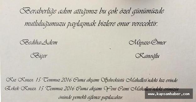 MHP'li Ömer Kanoğlu'nun Oğlu Yunus Emre Evleniyor...