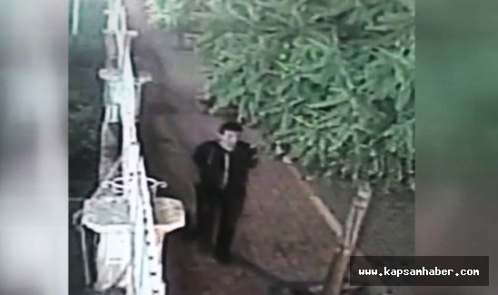 Saldırganın görüntüleri güvenlik kamerasında